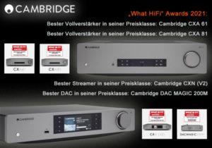 cambridge cx - what hifi awards